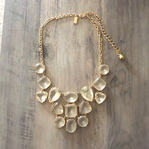 Kate Spade Crystal Clear Vegas Statement Necklace